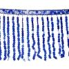 Sequin Fringe 6mm Trim Hologram Royal Blue 15cm Long